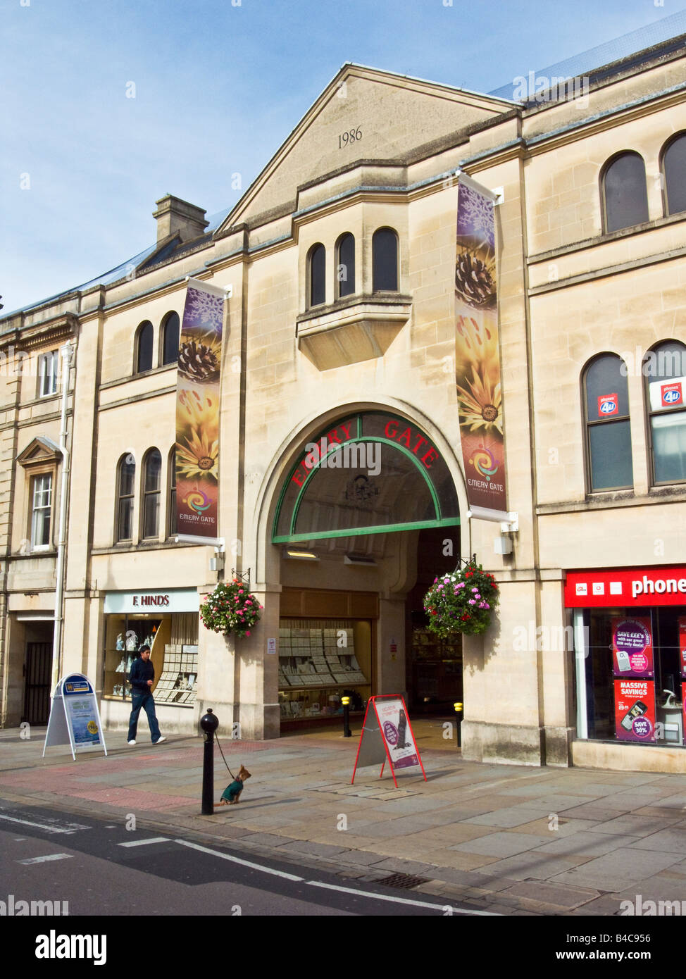 Entrance to Emery Gate shopping centre in the town centre of Chippenham Wiltshire England UK EU - Stock Image