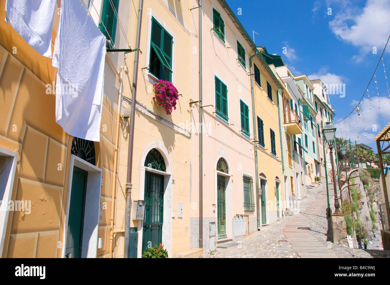 The town of Bogliasco Liguria Italy - Stock Image