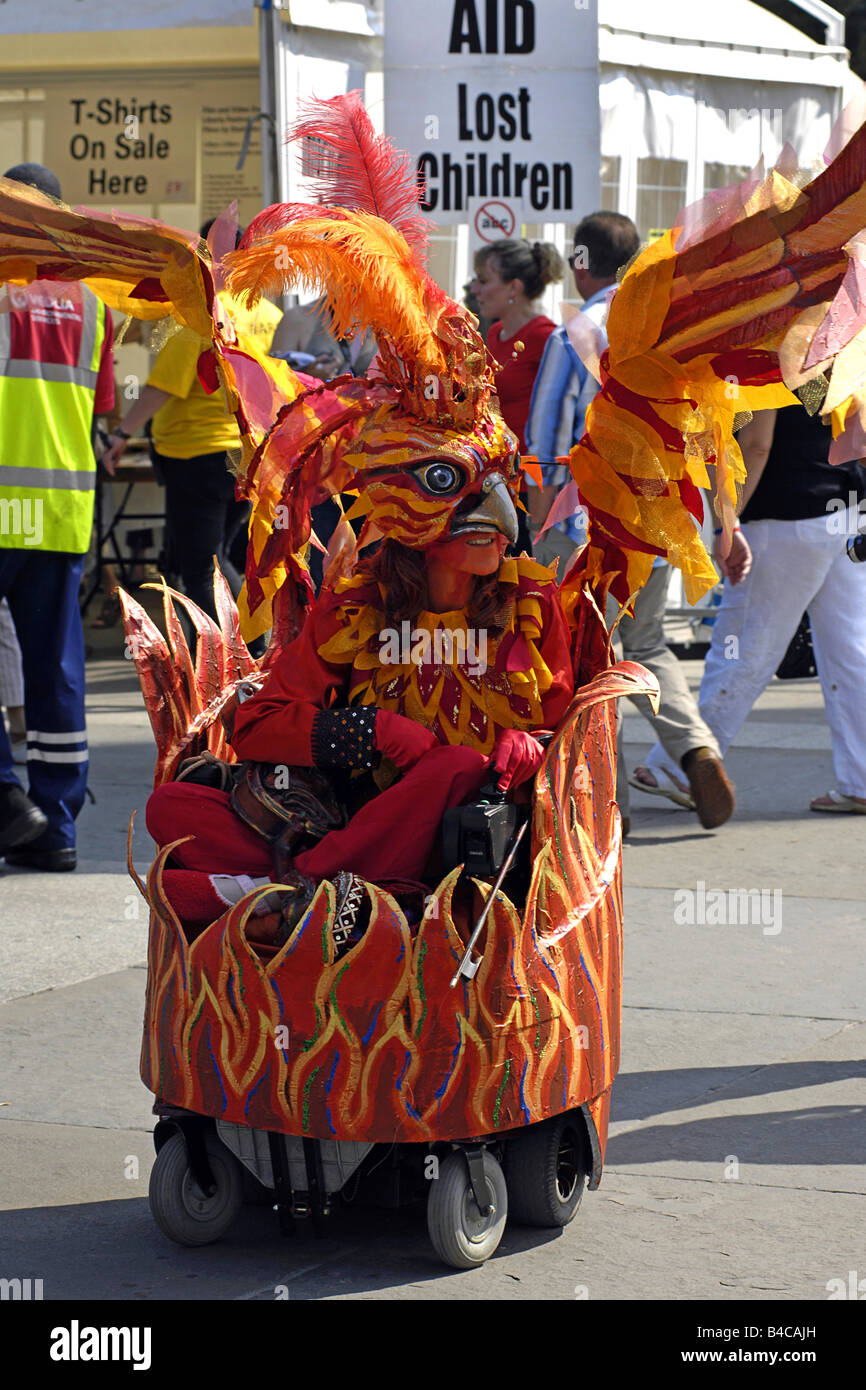 The Pheonix at the Liberty festival London inspired by wheelchair bound artiste - Stock Image