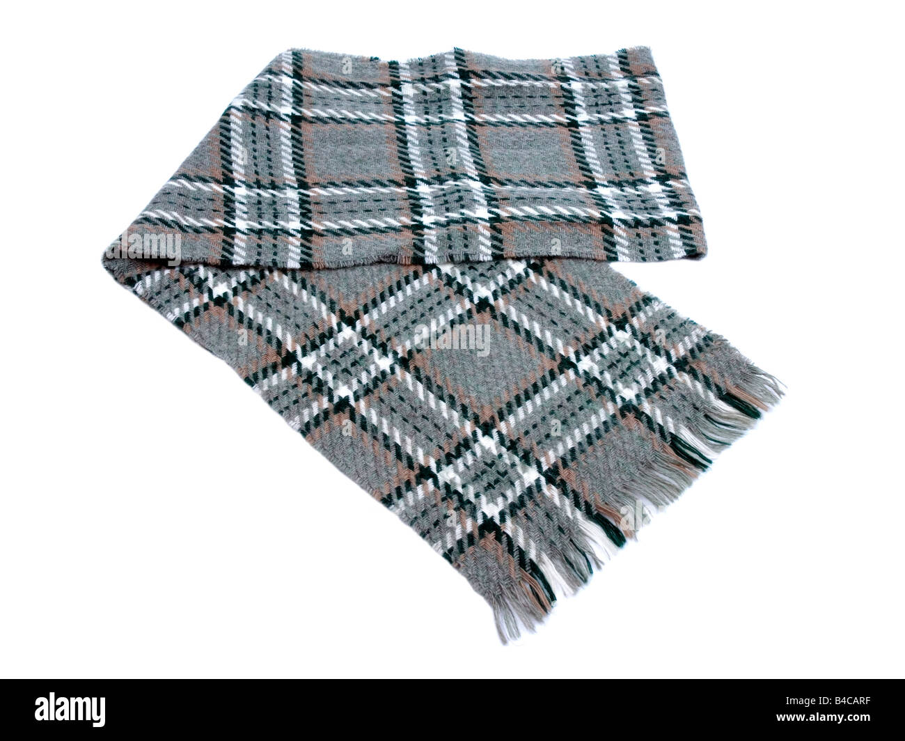 Scots Plaid winter scarf - Stock Image