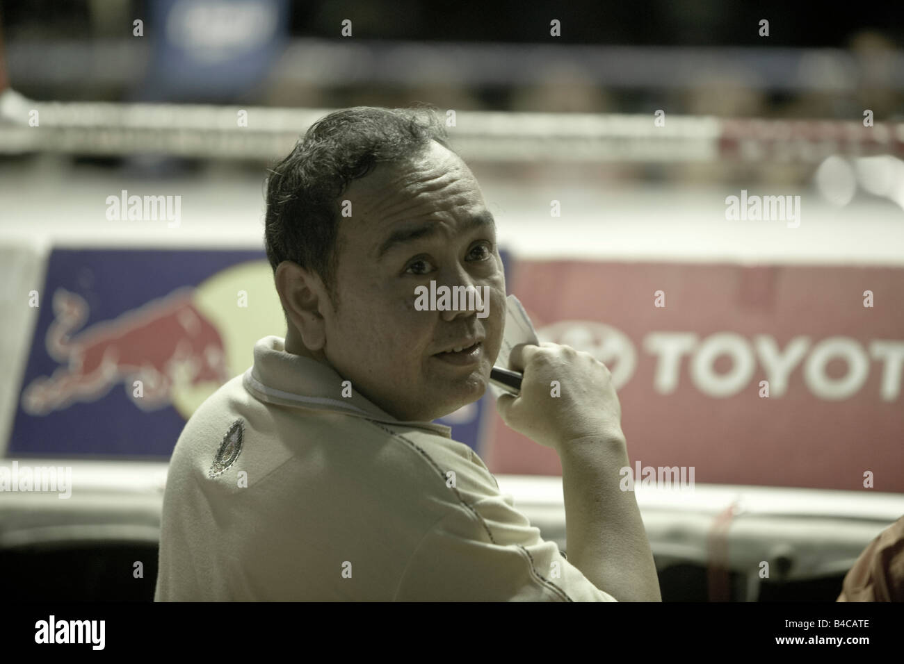 Bookmaker Thai Boxing Lumpinee Stadium Bangkok Thailand - Stock Image