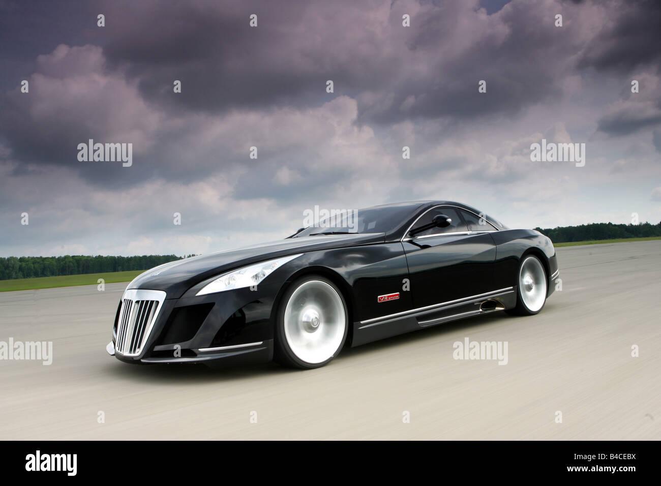car, maybach exelero fulda, coupe/coupe, model year 2005-, black