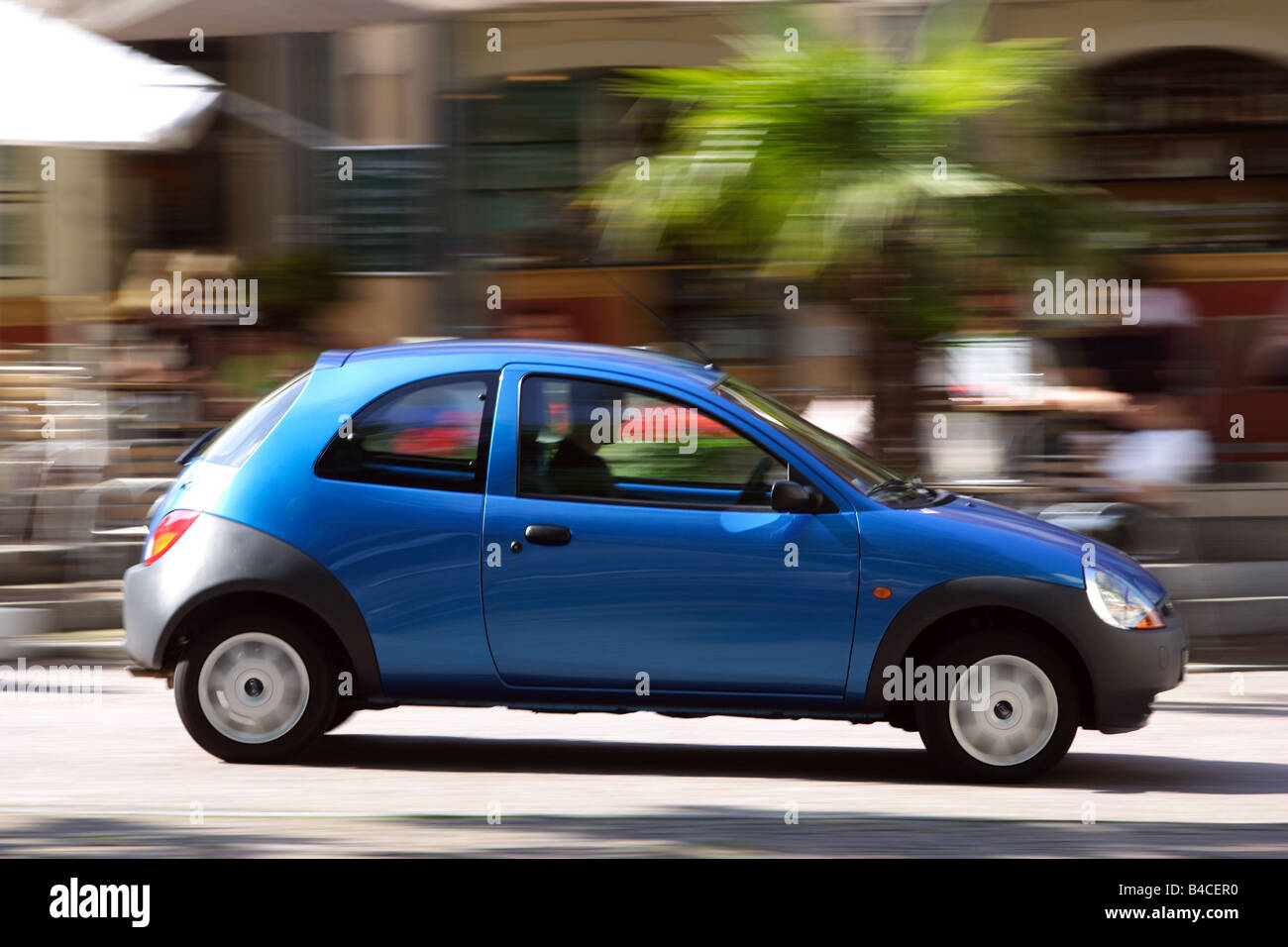Car Ford Ka Student Blue Model Year  Driving Side View City Photographer Achim Hartmann