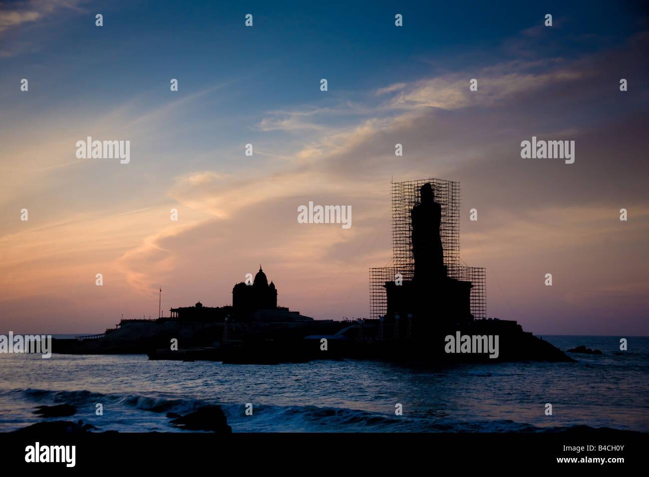 Vivekananda Rock at Dawn - Stock Image