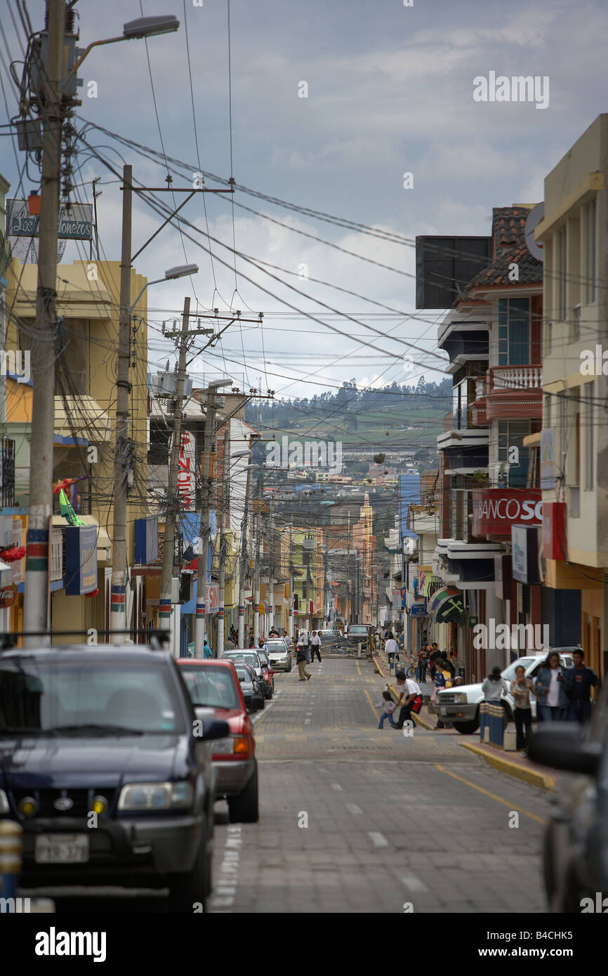 Street in Otavalo, Ecuador - Stock Image