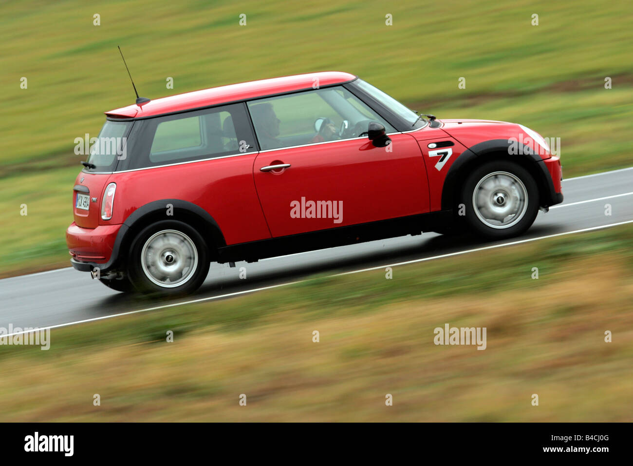 Bmw Mini One Seven Model Year 2001 Red Driving Side View