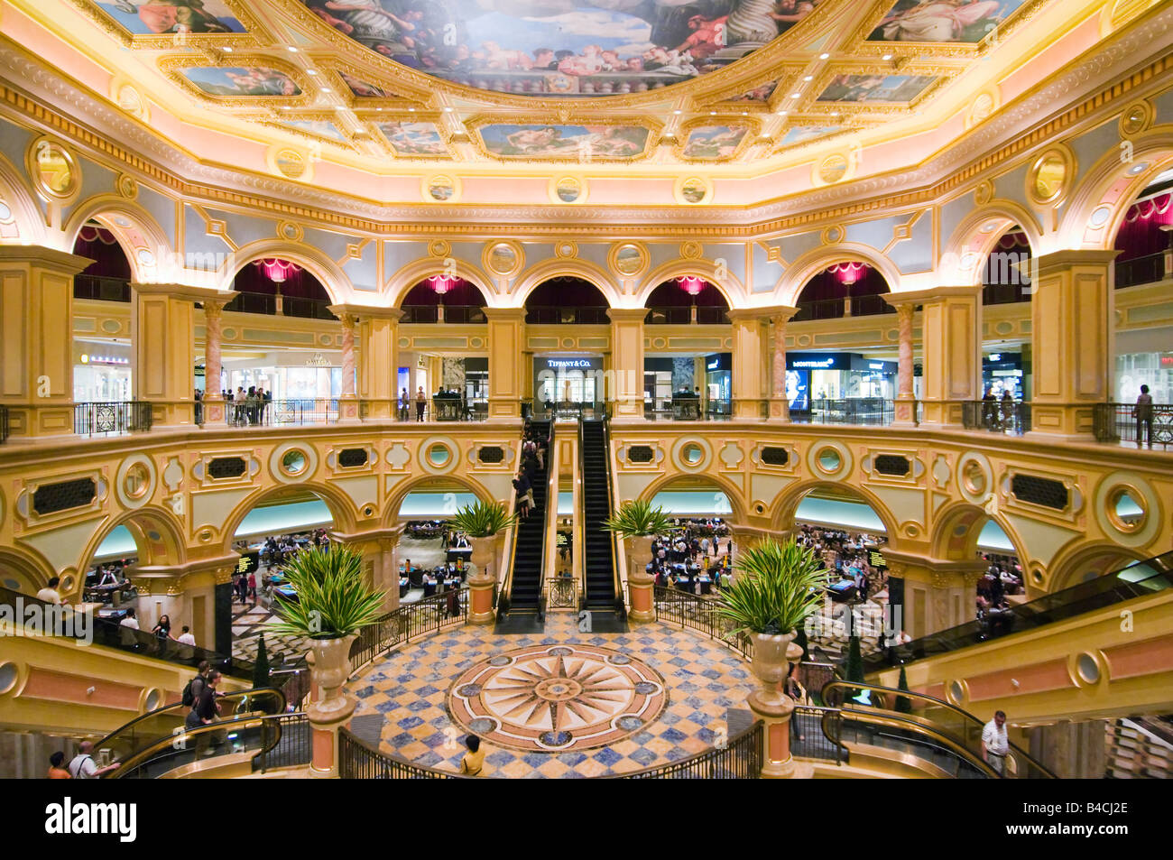 Interior of the venetian macao hotel and casino macau stock photo interior of the venetian macao hotel and casino macau altavistaventures Images