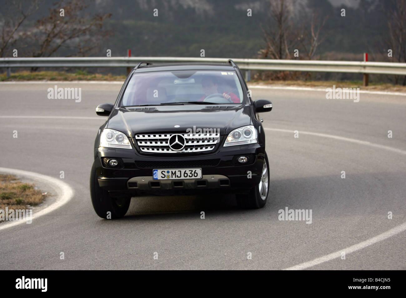 Mercedes Ml 320 Cdi Model Year 2005 Black Driving Diagonal From