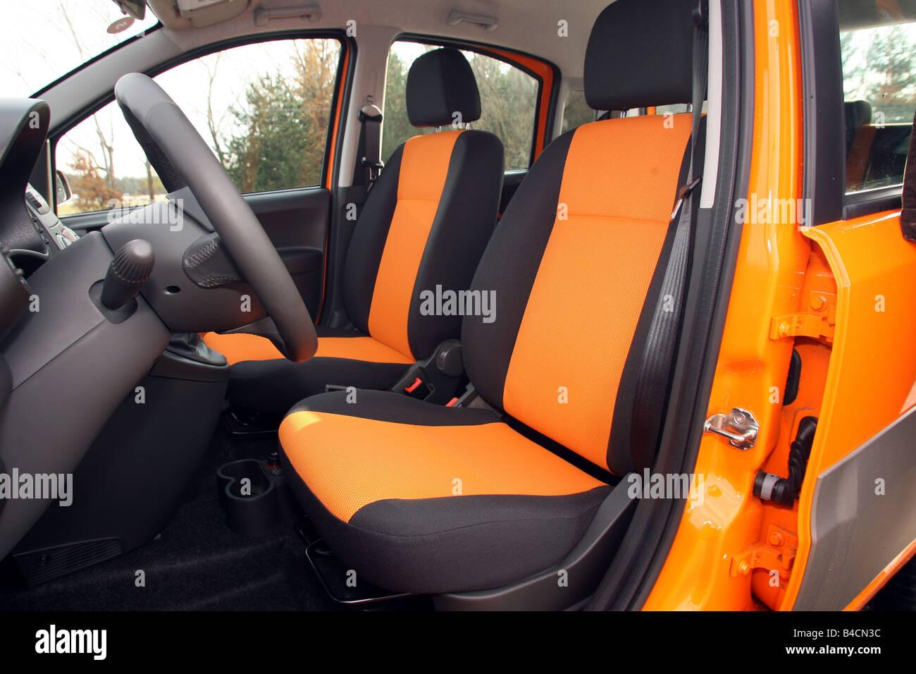 Fiat Panda 1.3 Multijet 16V 4x4, model year 2006-, orange , interior ...