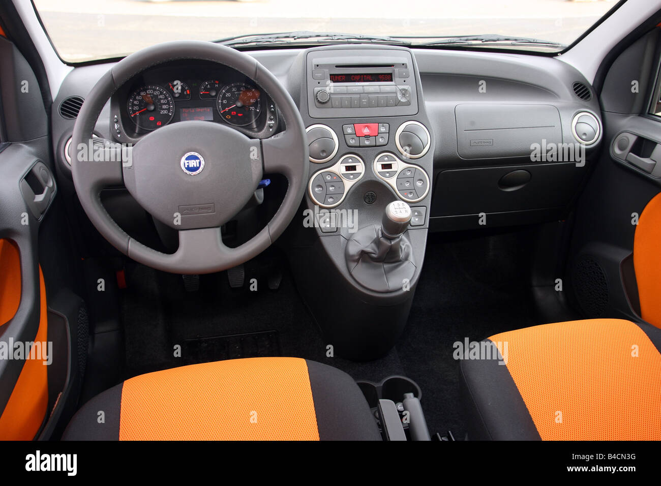 fiat panda 1 3 multijet 16v 4x4 model year 2006 orange interior stock photo 19948980 alamy. Black Bedroom Furniture Sets. Home Design Ideas
