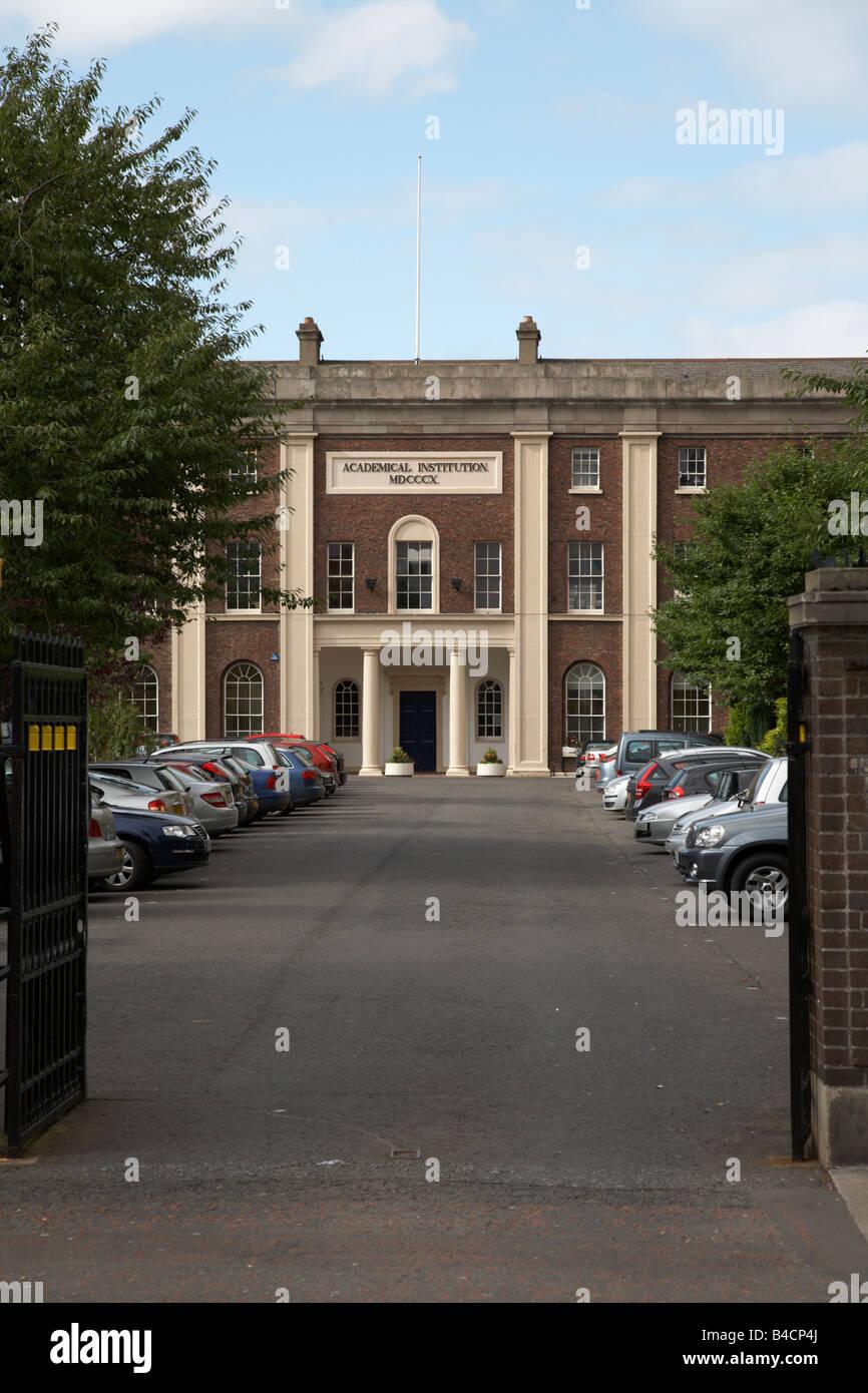 Royal Belfast Academical Institution Inst RBAI boys grammar school in Belfast Northern Ireland - Stock Image