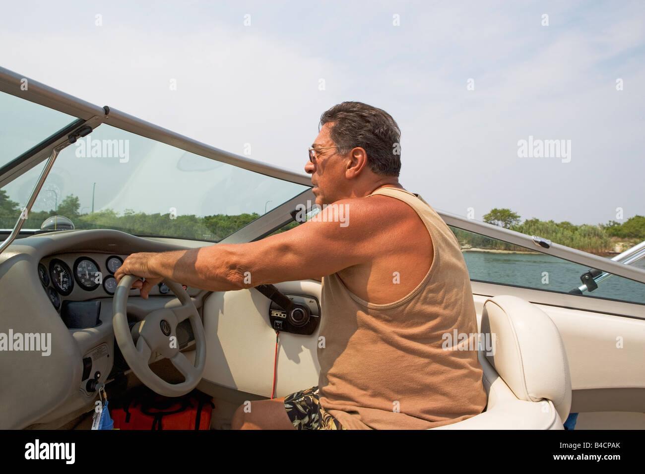 power, boat, motor, water, sport, cruising, recreation, fast Stock on