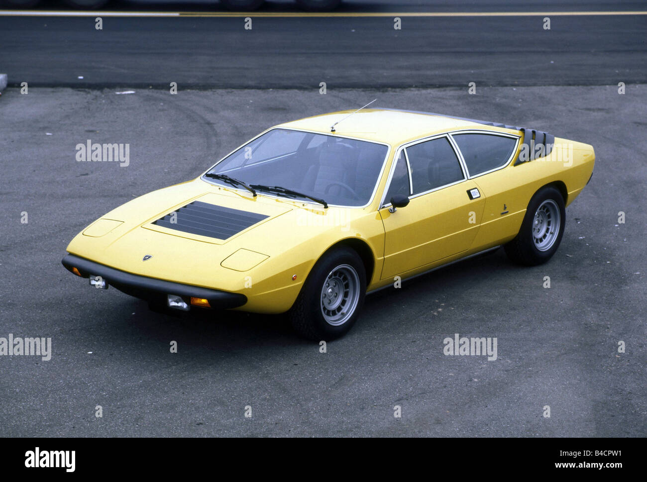Car Lamborghini Urraco Model Year 1970 The 70s Yellow Roadster