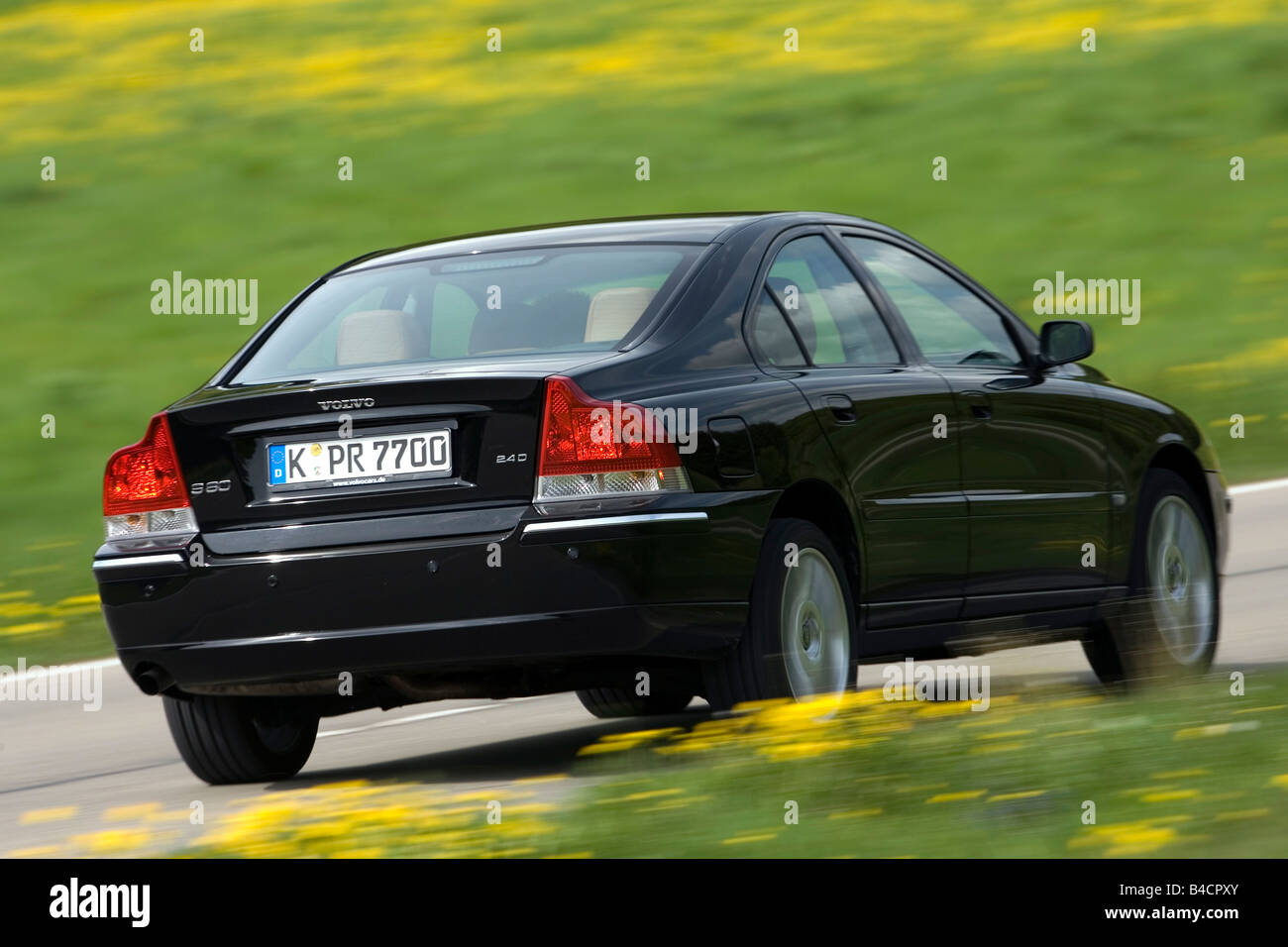 Volvo S60 2 4d Model Year 2006 Black Driving Diagonal From The Stock Photo Alamy