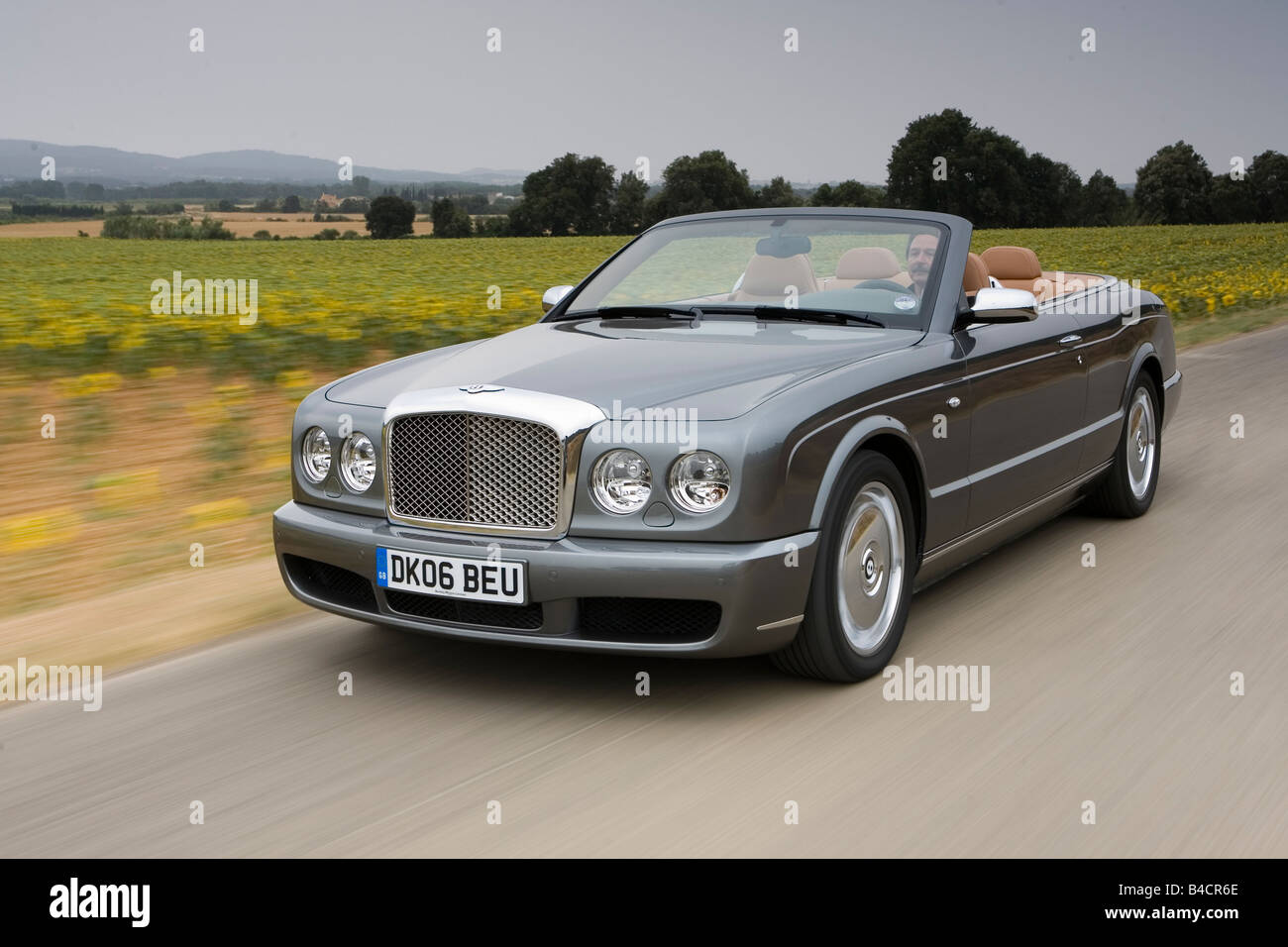 bentley azure, model year 2006-, anthracite, driving, diagonal from