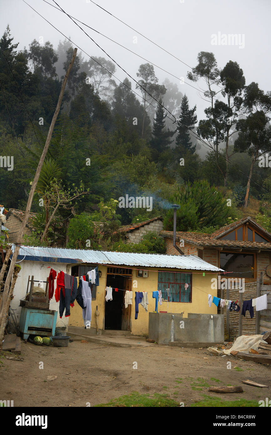 Homes in Alausi, Ecuador - Stock Image