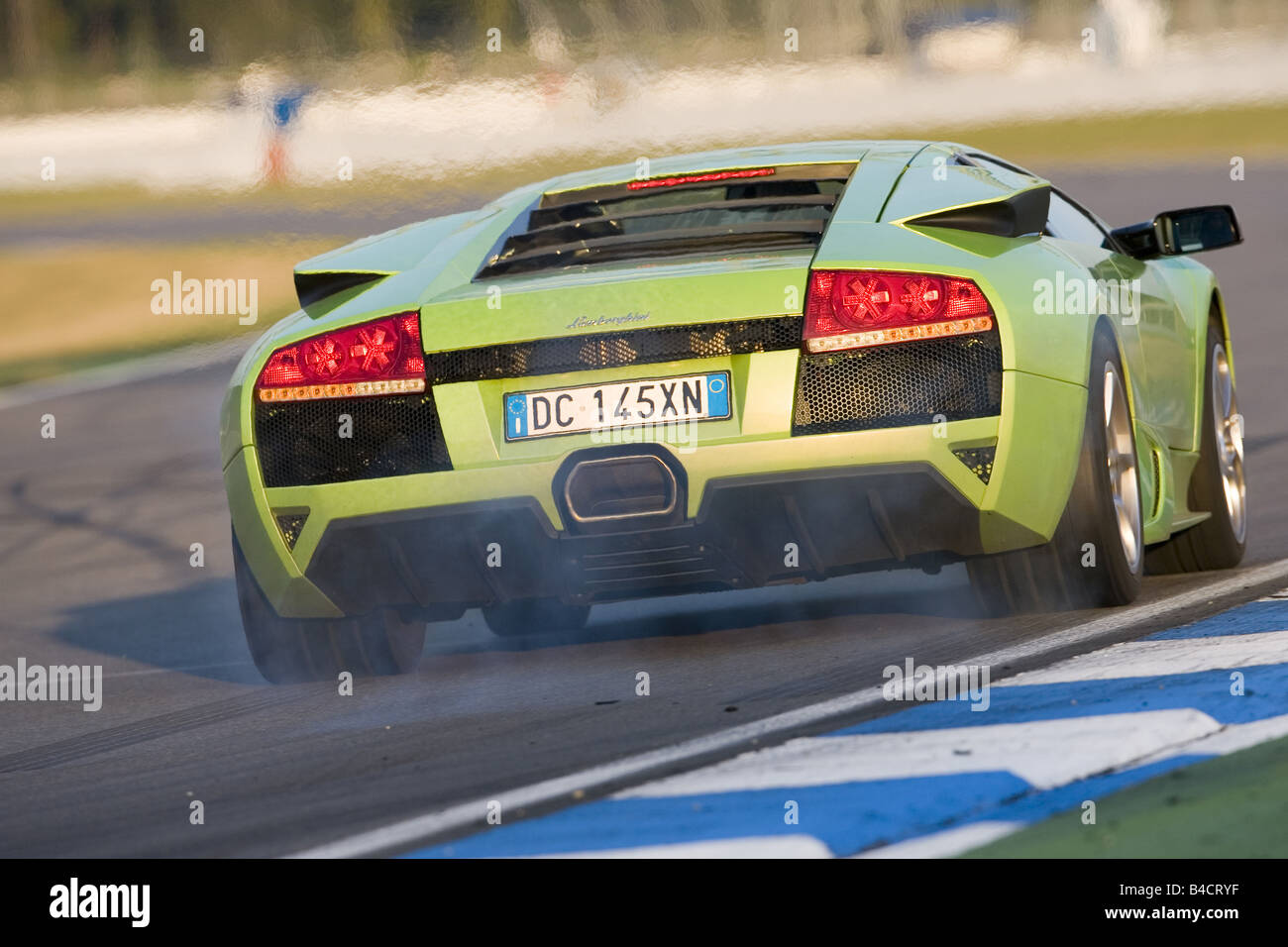 Lamborghini Murcielago Lp 640 Model Year 2006 Green Driving