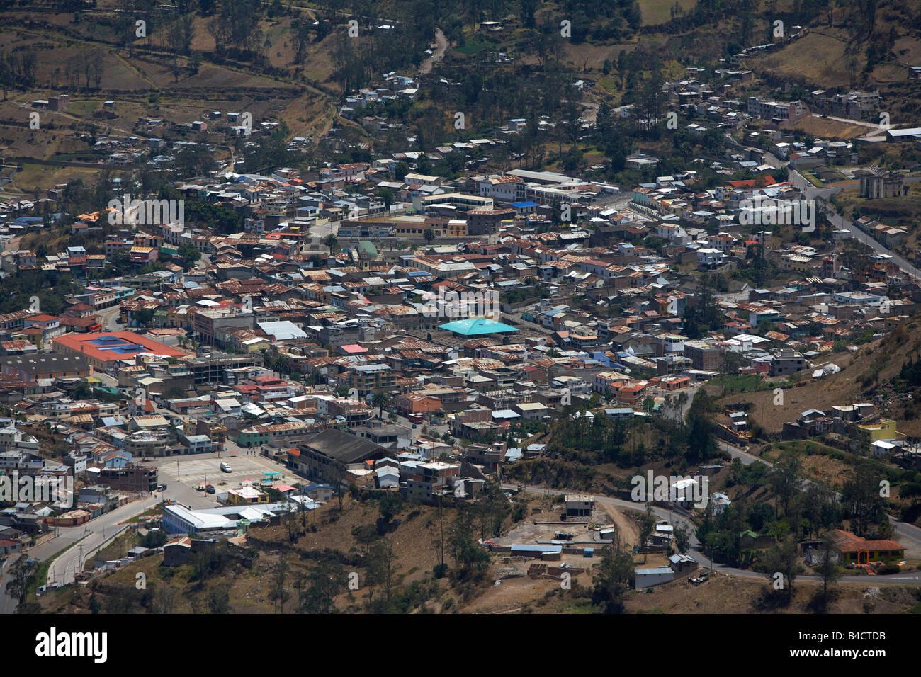 Small  village in Andes Mountains, Alausi, Ecuador - Stock Image