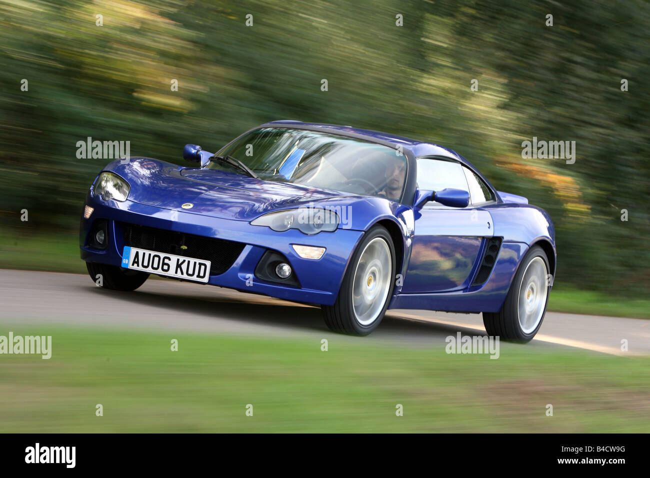 https://c8.alamy.com/comp/B4CW9G/lotus-europa-s-model-year-2006-blue-moving-diagonal-from-the-front-B4CW9G.jpg