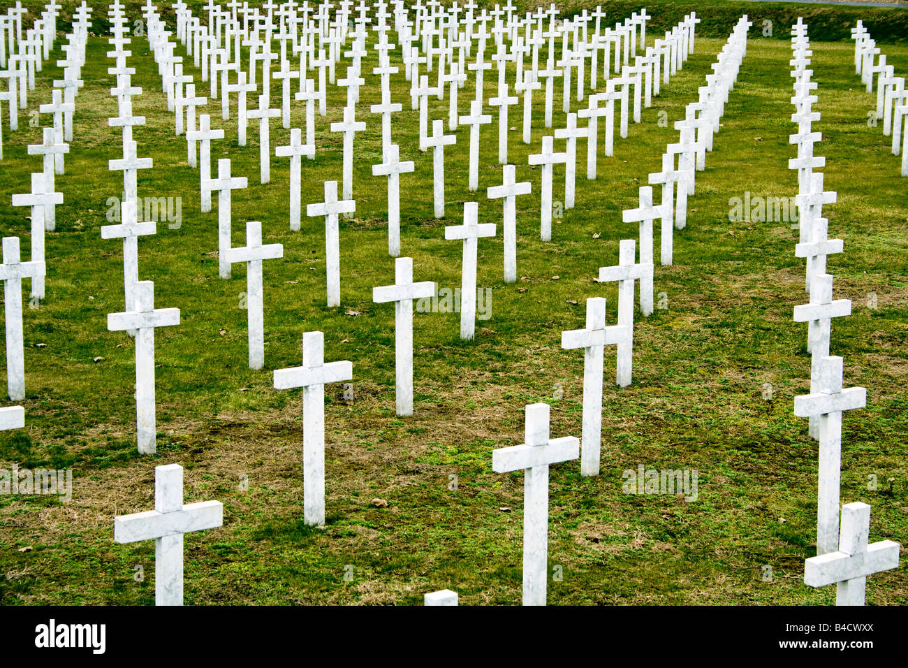 CROATIA, VUKOVAR. Cemetary in Vukovar of the Croatian soldiers killed in the defence of the city. Stock Photo