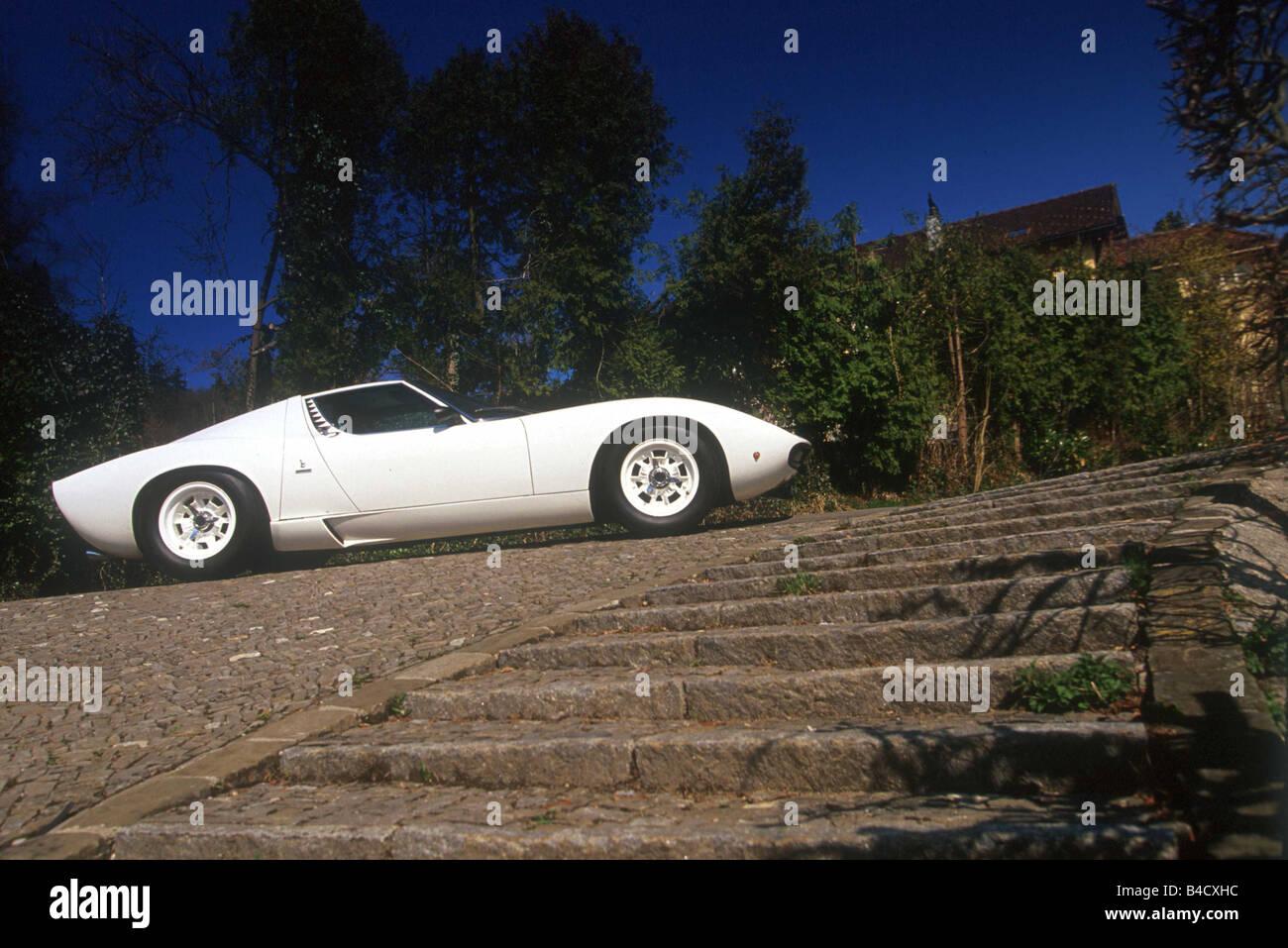 Car Lamborghini Miura Roadster Coupe Model Year 1966 1972 Stock