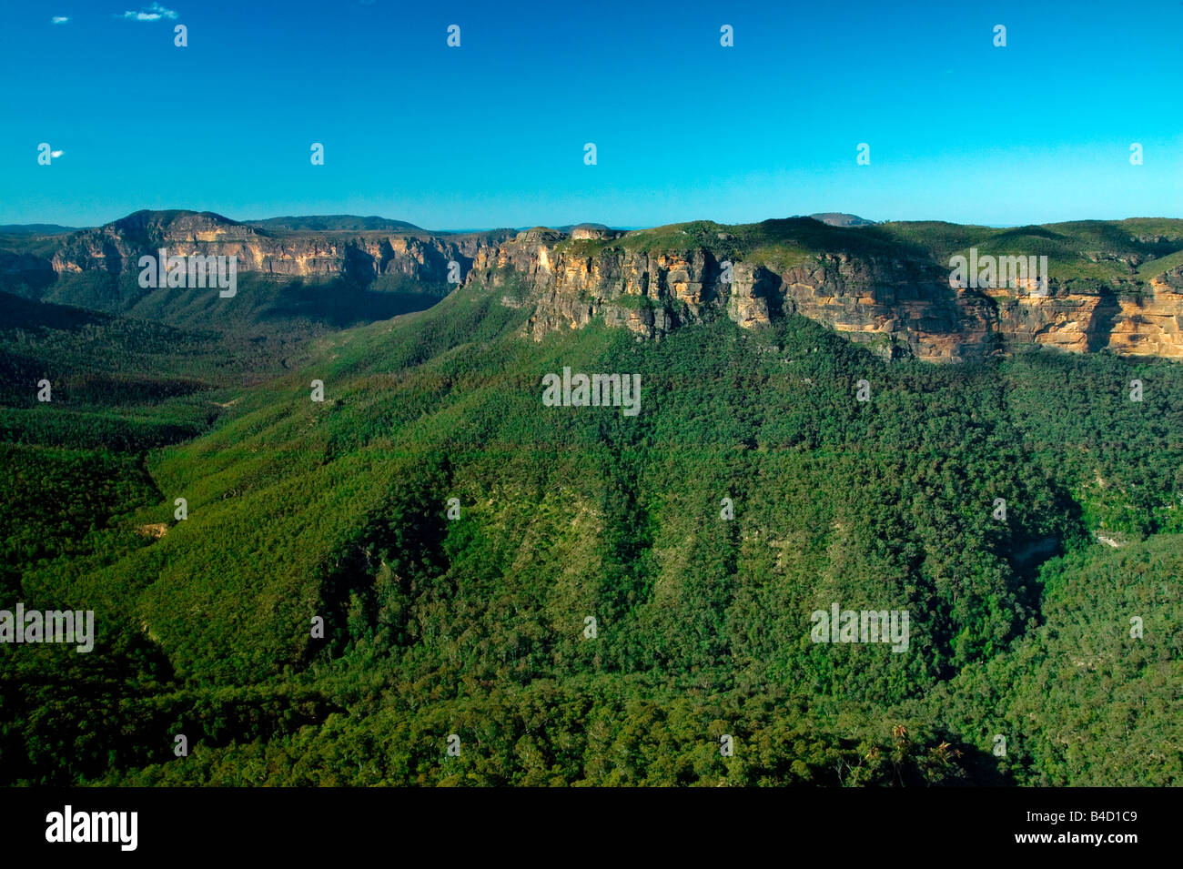 JAMISON VALLEY BLUE MOUNTAINS NSW AUSTRALIA - Stock Image