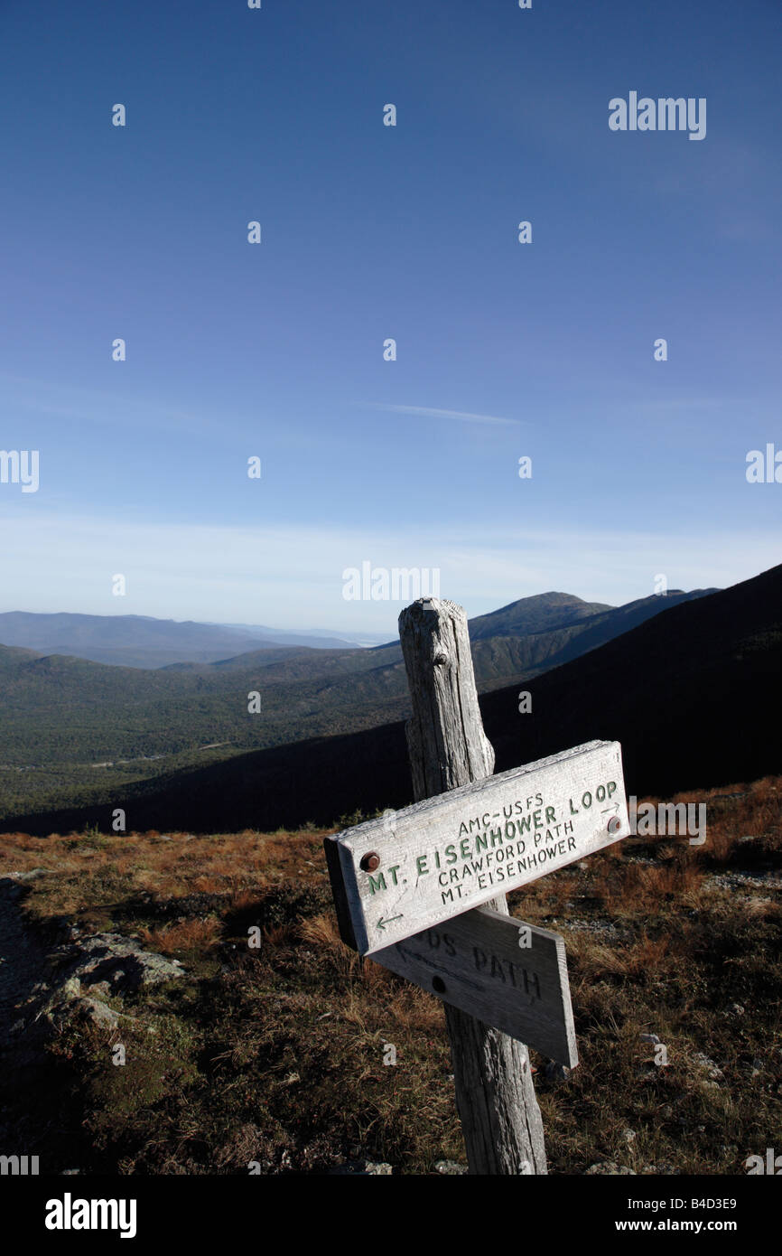 Appalachian Trail in the White Mountains New Hampshire USA - Stock Image