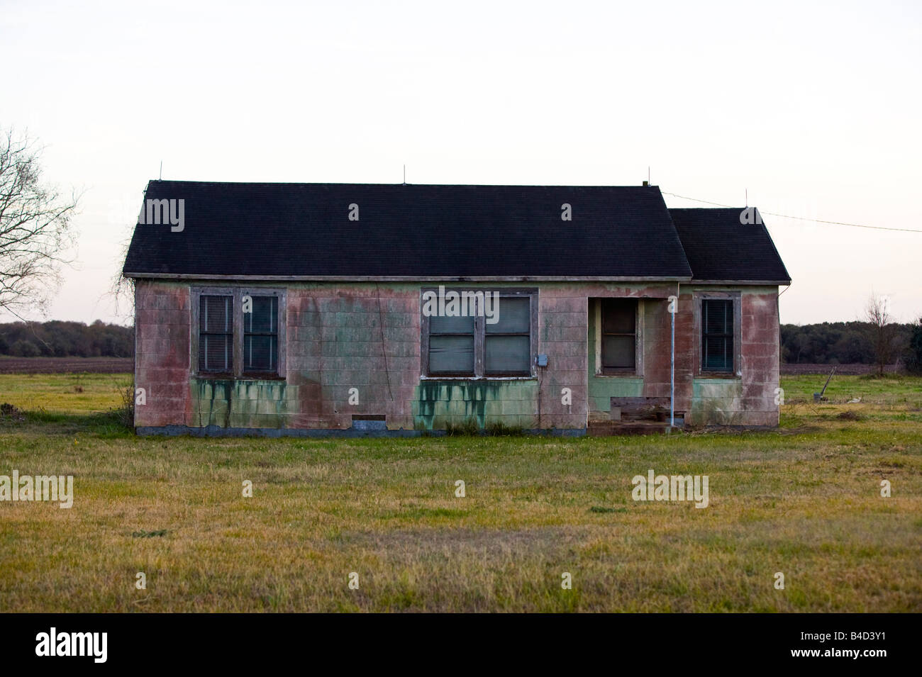 colored home, southeast texas - Stock Image