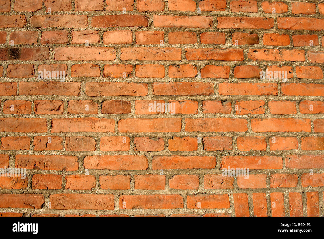 RED BRICK BACKGROUND - Stock Image