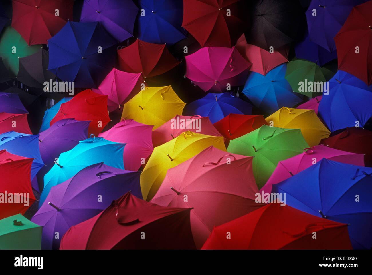 color umbrellas - Stock Image