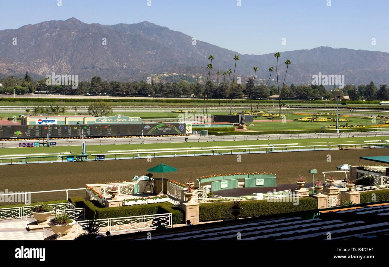 Santa Anita Race Track Arcadia California Stock Photo