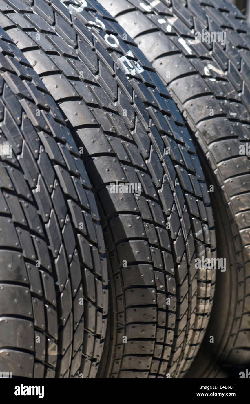 Brand new tyres - Stock Image