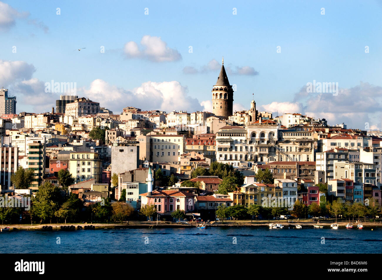 The Galata Tower Beyoglu The Golden Horn Istanbul Turkey - Stock Image
