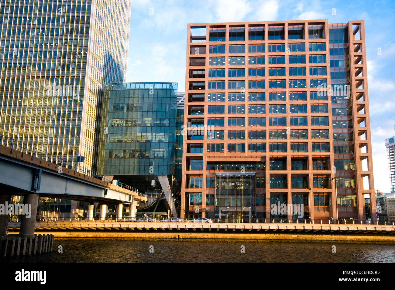 Morgan Stanley building, Canary Wharf, London, UK Stock