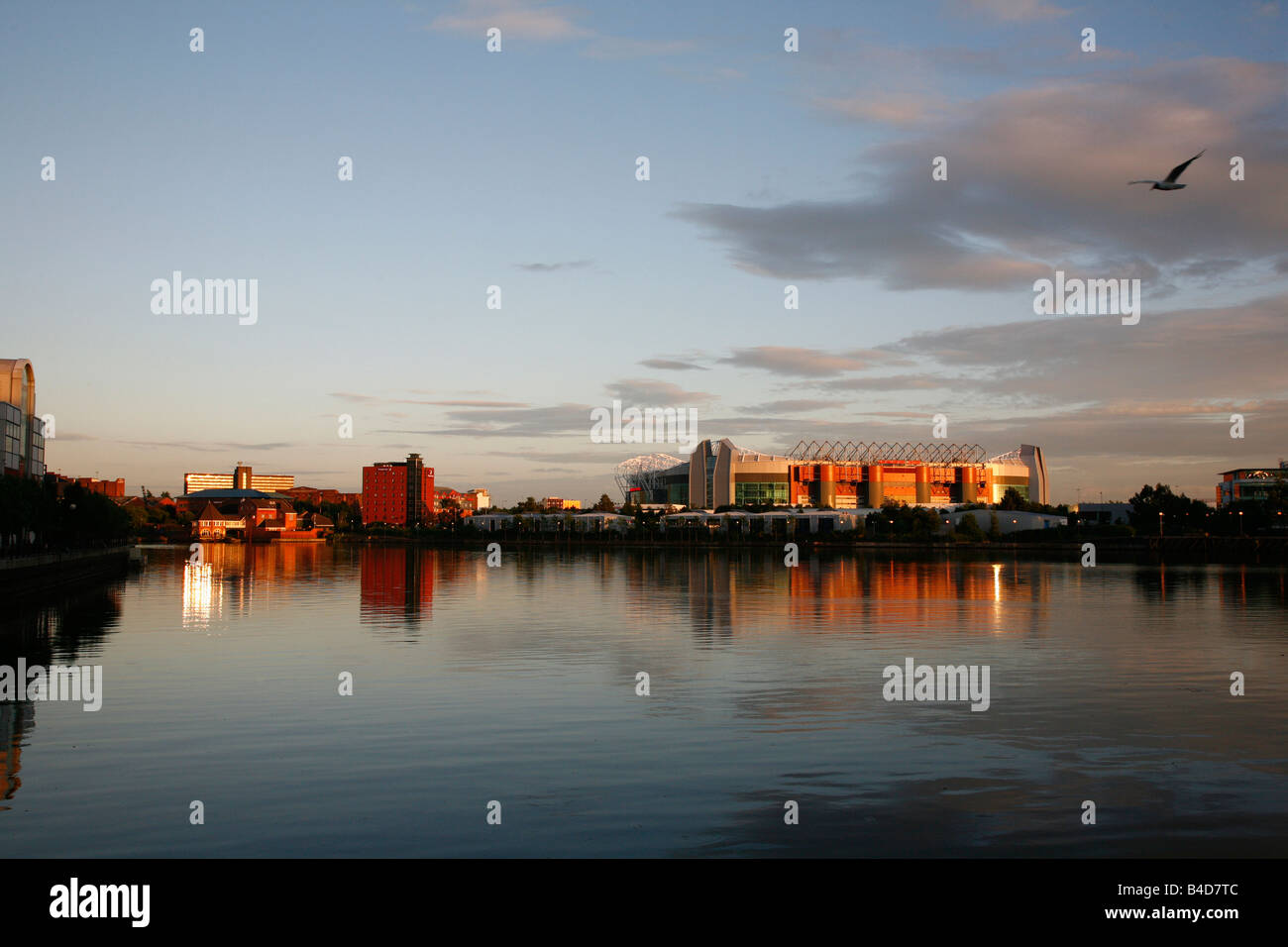 Aug 2008 - The Old Trafford Stadium Salford Quays Manchester England UK - Stock Image