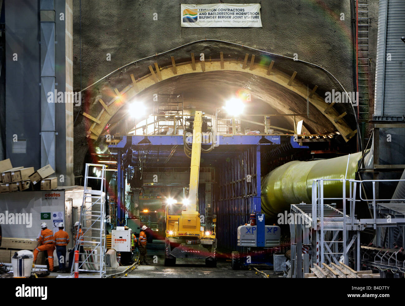 Australia, Brisbane: building the North South Bypass Tunnel / Clem Jones Tunnel, 19.09.2008 - Stock Image