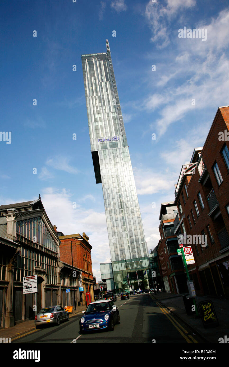 Aug 2008 - The Beetham Tower also known as the Hilton hotel Manchester England UK - Stock Image