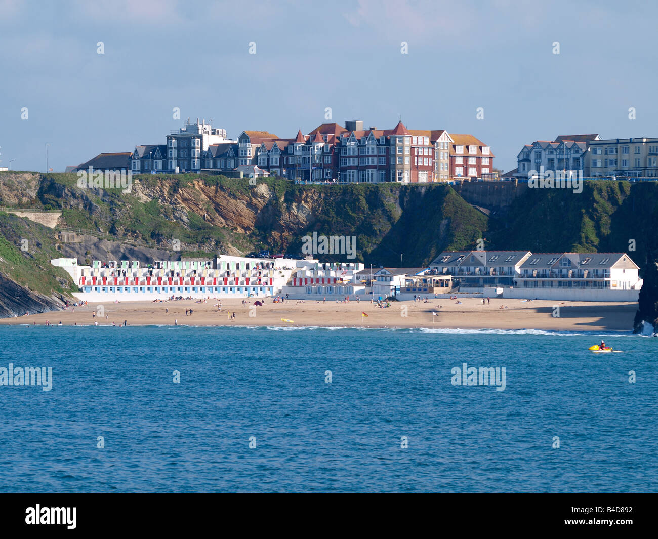 Tolcarne Beach on a sunny summers day, Newquay, Cornwall - Stock Image