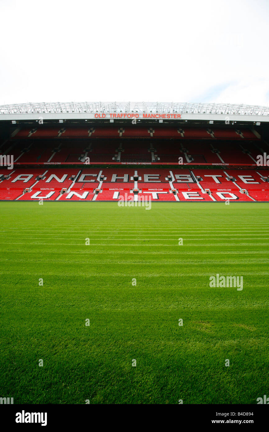 July 2008 - The Old Trafford Stadium Manchester England UK - Stock Image