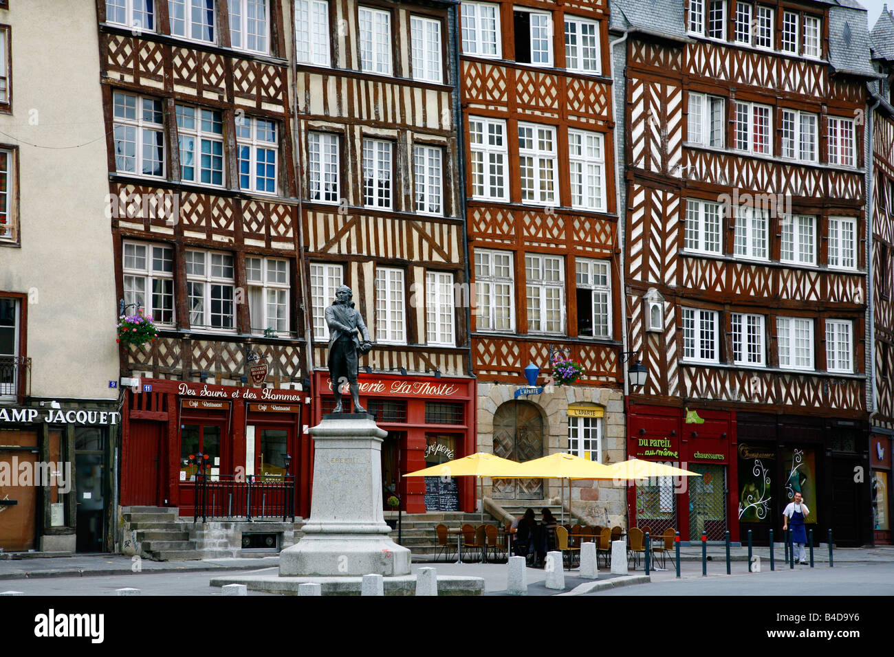 July 2008 - Place du Champ Jacquet in Rennes Brittany France - Stock Image