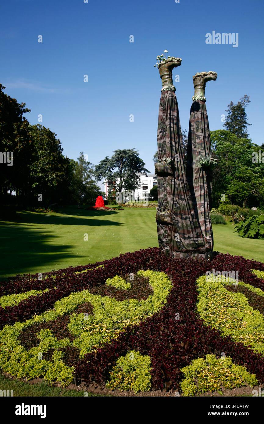 July 2008 - Jardin des Plantes botanical gardens Nantes Brittany France - Stock Image