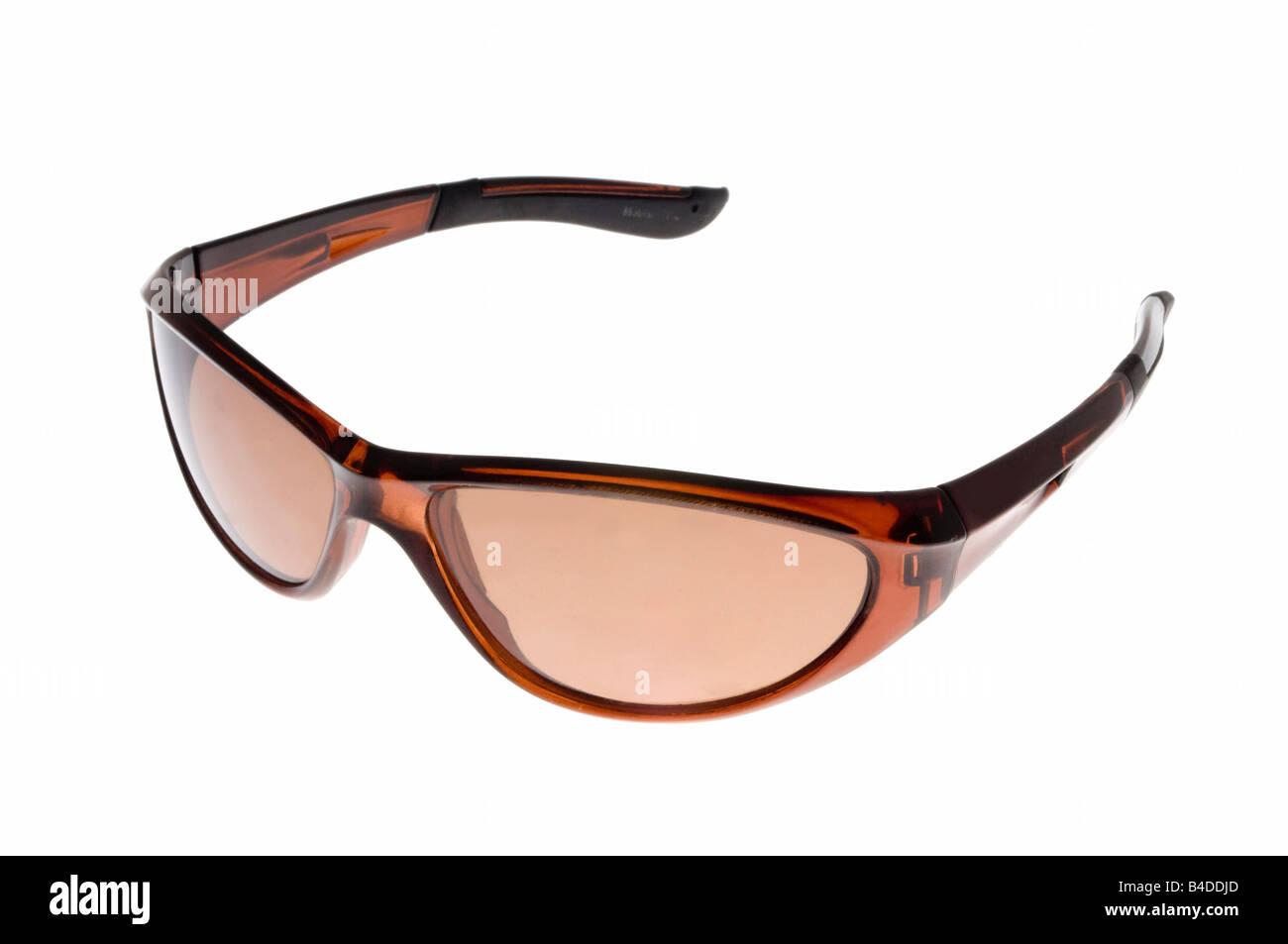 sunglasses on white - Stock Image