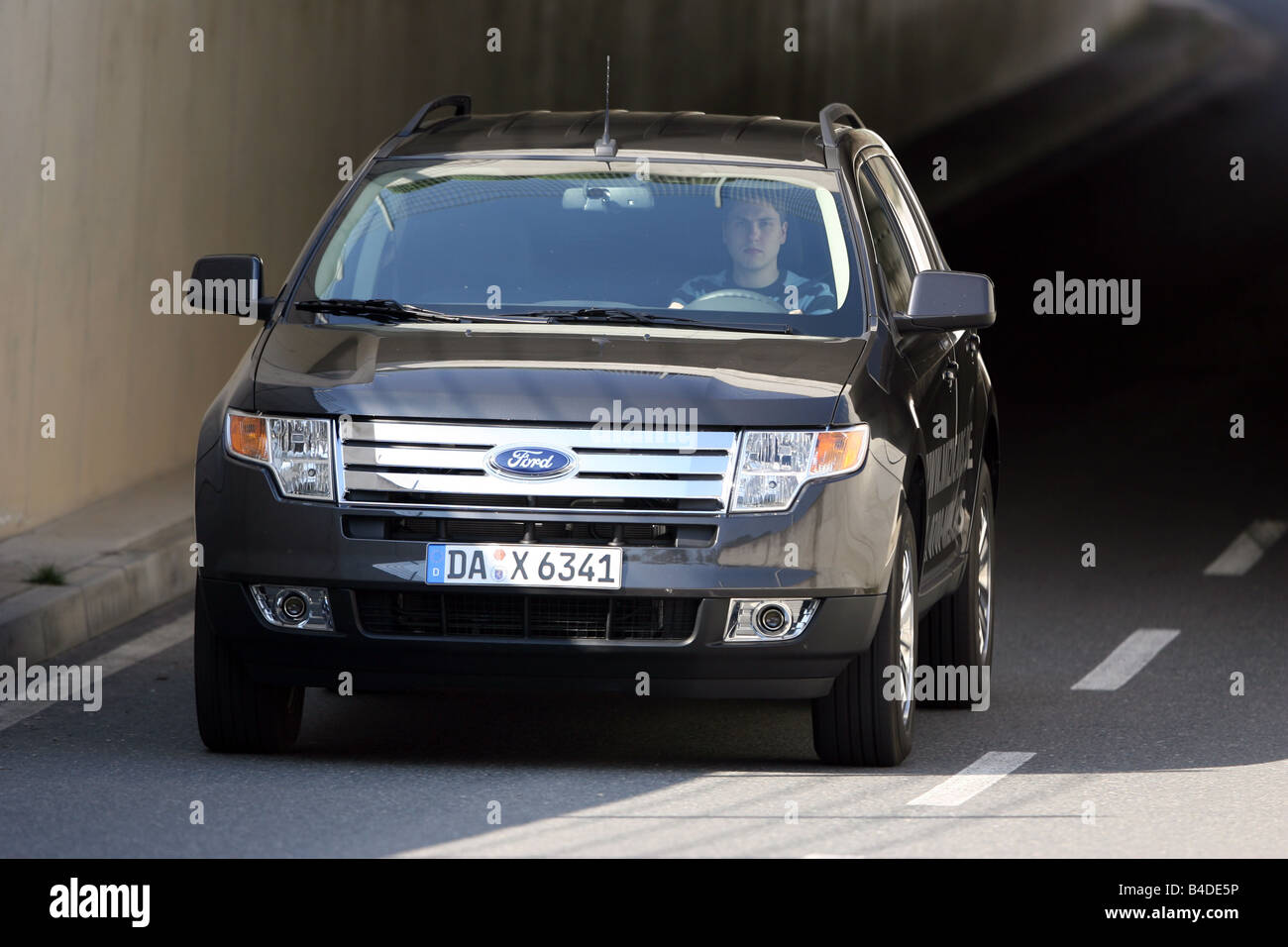 Ford Suv Edge Model Year  Anthracite Driving Diagonal From The