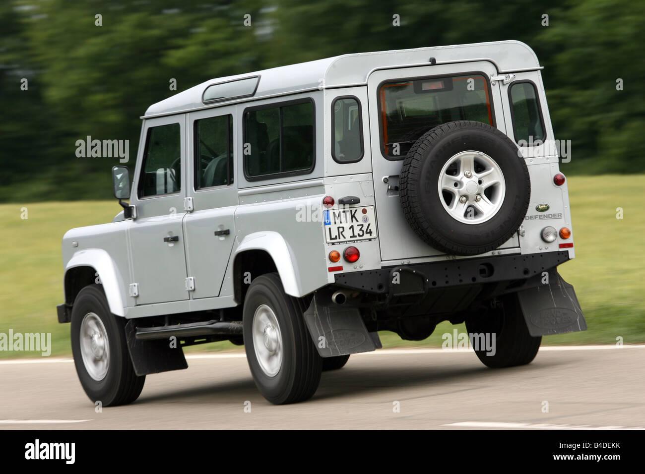 land rover defender 110 td4 station se model year 2007 silver stock photo 19965895 alamy. Black Bedroom Furniture Sets. Home Design Ideas