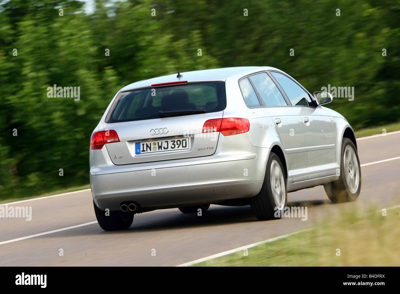 Audi A3 Sportback 2 0 Tdi Ambition  Model Year 2007-  Silver Stock Photo  19966798