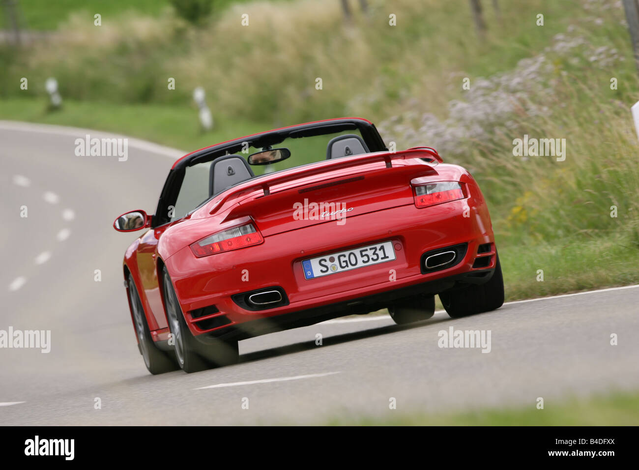 Porsche 911 Turbo Convertible Model Year 2007 Red