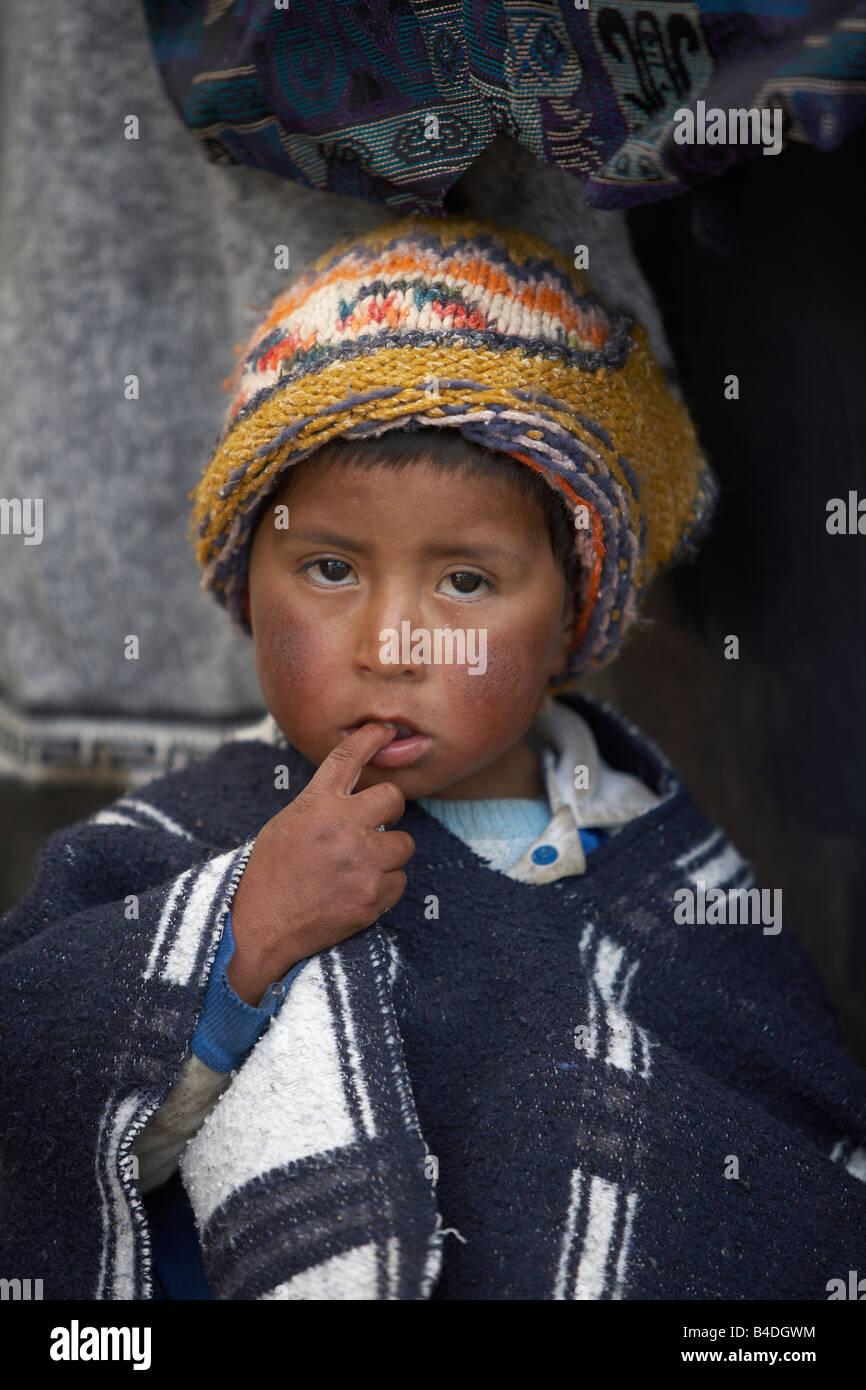 Local Boy, Andes Mountains, Ecuador - Stock Image