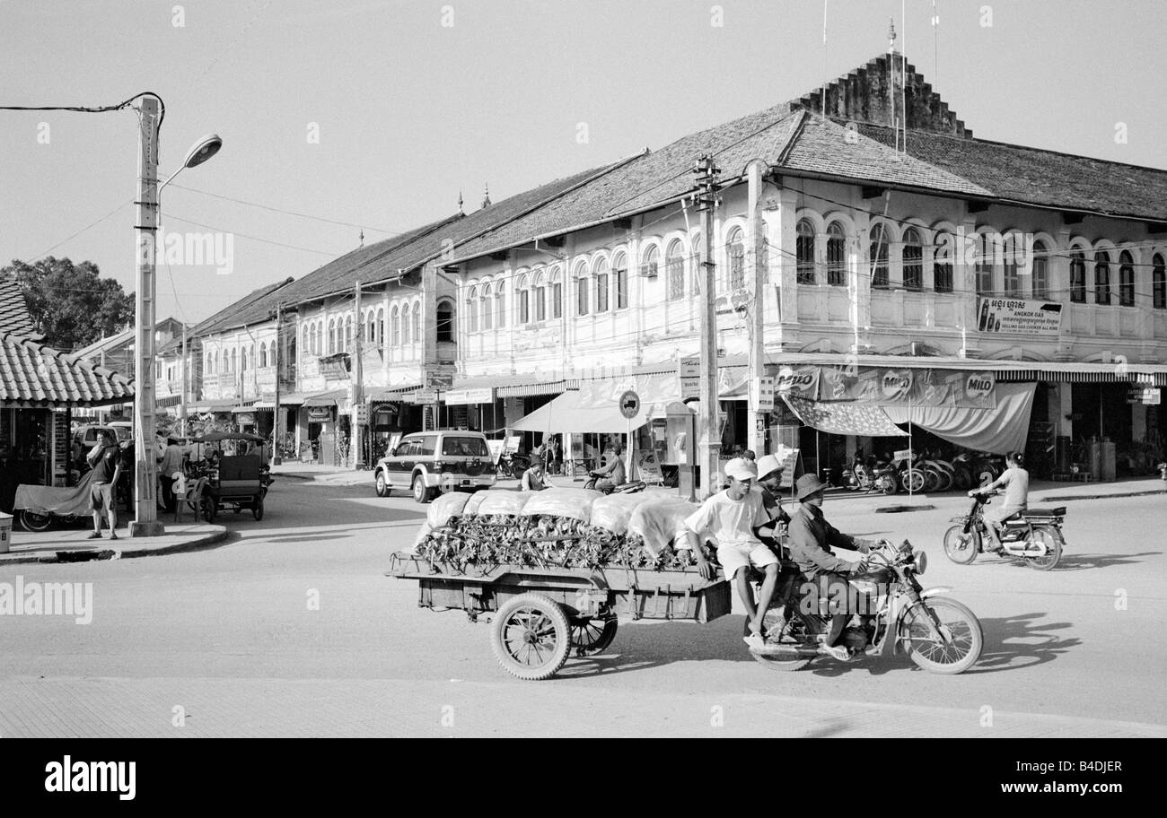 Jan 20, 2003 - French colonial architecture in the Cambodian town of Siem Riep. Stock Photo