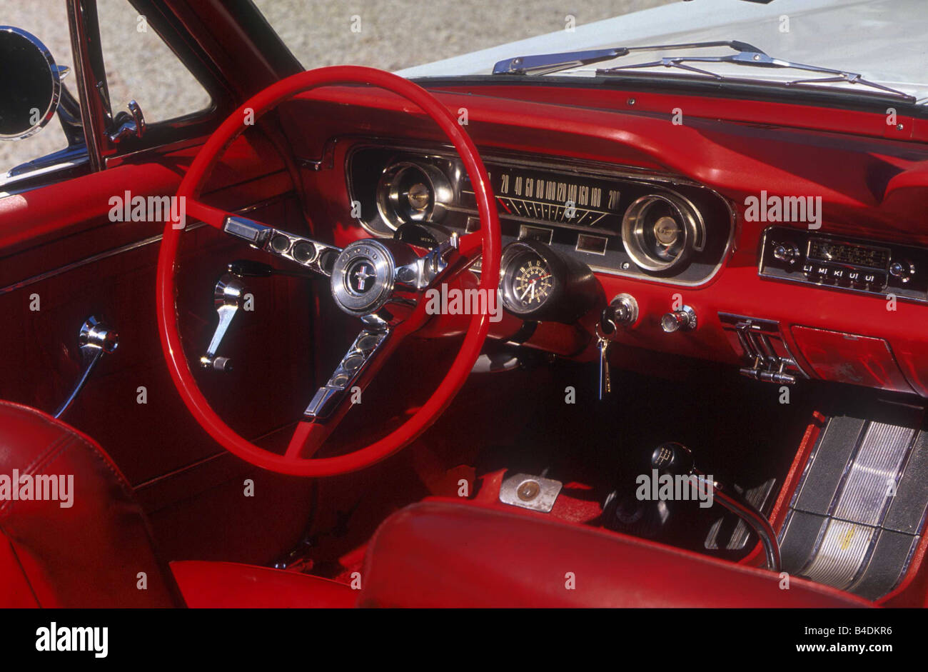 Ford 1965 Mustang >> Car, Ford Mustang, Convertible, model year 1965, white, Vintage Stock Photo: 19969914 - Alamy