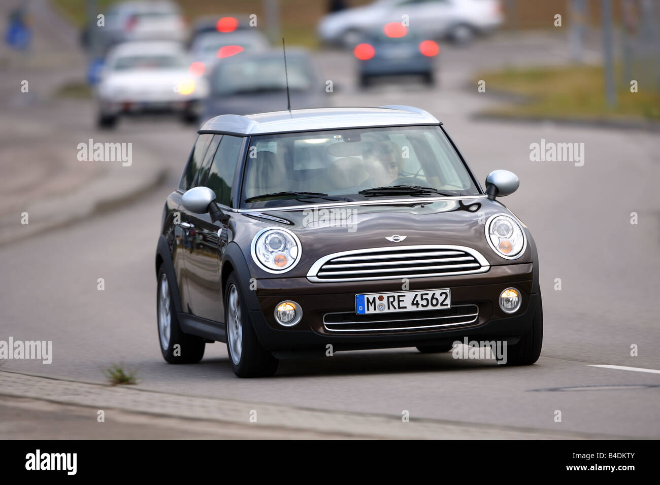 Mini Cooper Clubman Brown Model Year 2007 Driving Diagonal From
